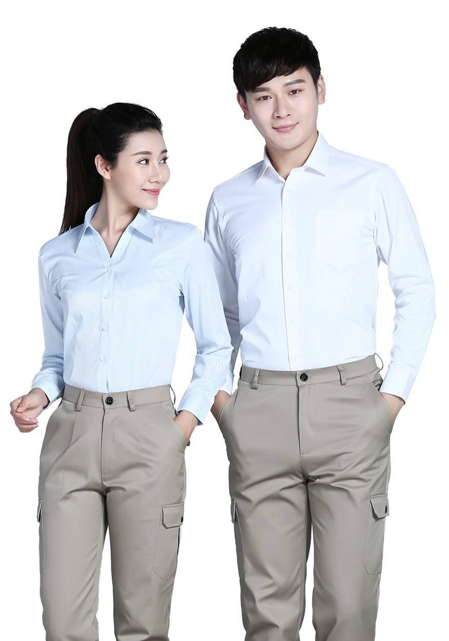 2019奇亿平台浅蓝女浅蓝色条纹60棉80双织长袖衬衫